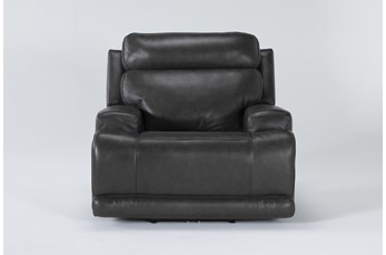 Vance Zero Gravity Grey Power Recliner With Power Headrest & Lumbar