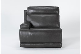 Vance Zero Gravity Grey Left Arm Facing Power Recliner With Power Headrest & Lumbar
