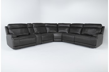 Vance Zero Gravity Grey 6 Piece Sectional With Power Headrest & Lumbar