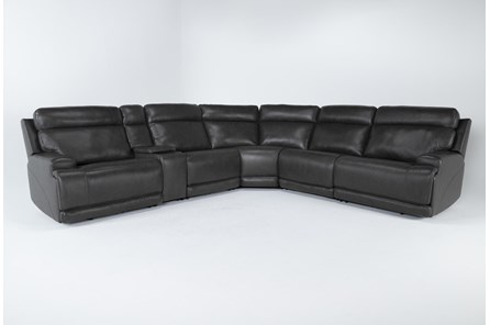 Vance Zero Gravity Grey 6 Piece Sectional With Power Headrest & Lumbar - Main