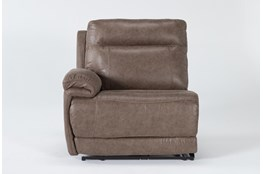 Wallace Light Brown Zero Gravity Power Left Arm Facing Recliner With Power Headrest