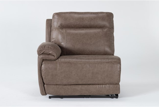 Wallace Light Brown Zero Gravity Power Left Arm Facing Recliner With Power Headrest - 360