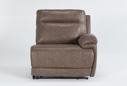 Wallace Light Brown Zero Gravity Power Right Arm Facing Recliner With Power Headrest
