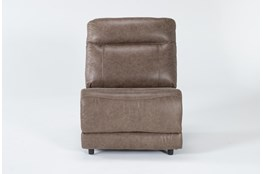Wallace Light Brown Zero Gravity Power Armless Recliner With Power Headrest