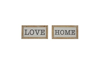 Love Home Sign Set Of 2