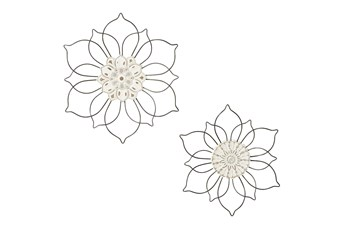 Floral Wall Decor Set Of 2 Assorted Flowers