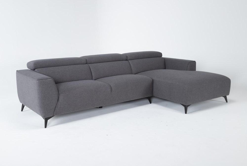 "Lucas Graphite 2 Piece 115"" Sectional With Right Arm Facing Chaise"