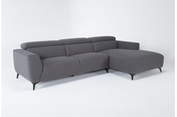 """Lucas Graphite 2 Piece 115"""" Sectional With Right Arm Facing Chaise"""