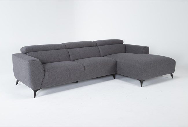 "Lucas Graphite 2 Piece 115"" Sectional With Right Arm Facing Chaise - 360"