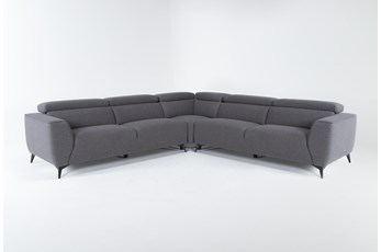 "Lucas Graphite 3 Piece 113"" Sectional"