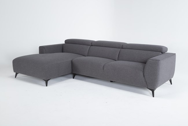 """Lucas Graphite 2 Piece 115"""" Sectional With Left Arm Facing Chaise - 360"""