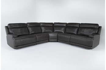 Vance Zero Gravity Grey 5 Piece Sectional With Power Headrest & Lumbar