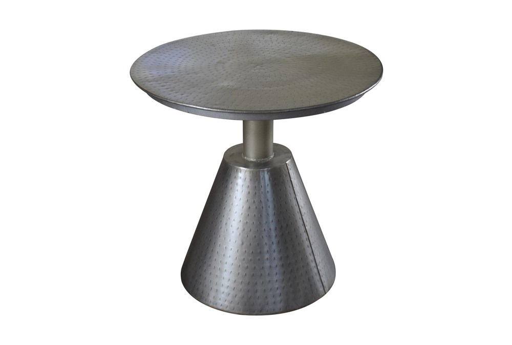 Metal Cone Accent Table