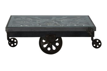 Black Factory Cart Coffee Table