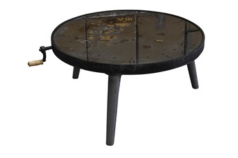 Round Multi Gear Metal Coffee Table