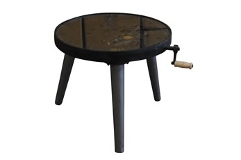 Round Multi Gear Metal Accent Table