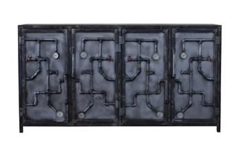 "Industrial Pipes 4 Door 80"" Sideboard"