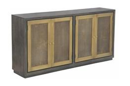 """Stamp Brass Front 4 Door 80"""" Sideboard"""
