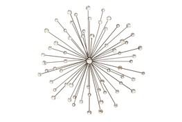 Silver 30 Inch Metal/Glass Bead Wall Decor