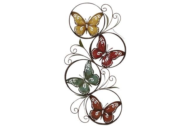 Multi 36 Inch Metal Butterfly Wall Decor  - 360