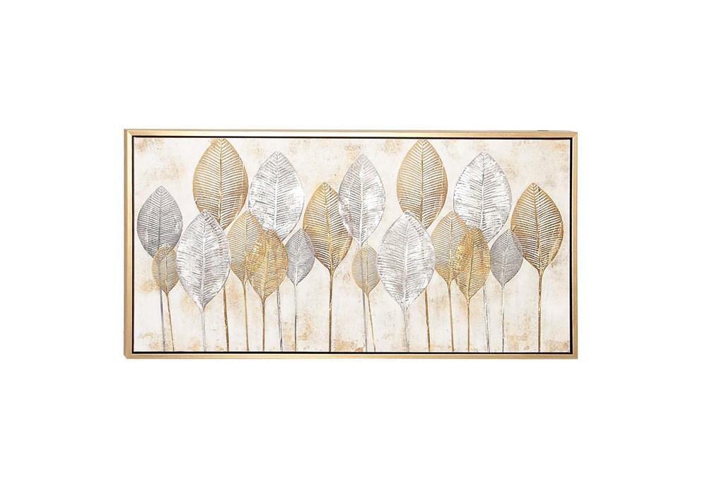 Brown 27 Inch Framed Canvas Art