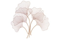 Gold 34 Inch Botanical Fan Metal Wall Decor
