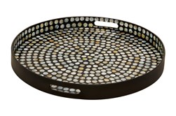 Multi 3 Inch Wood Lacquer Shell Tray