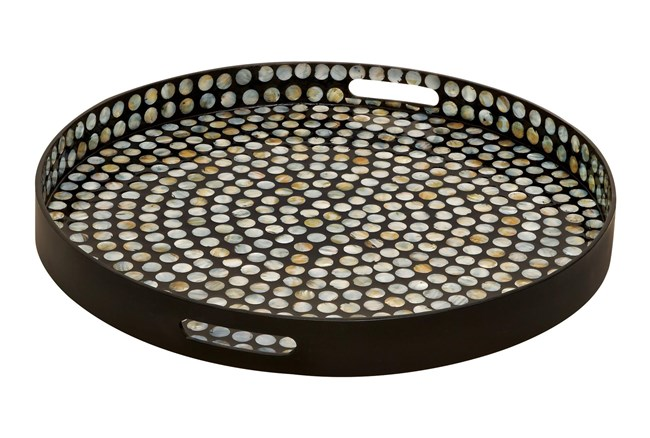 Multi 3 Inch Wood Lacquer Shell Tray - 360