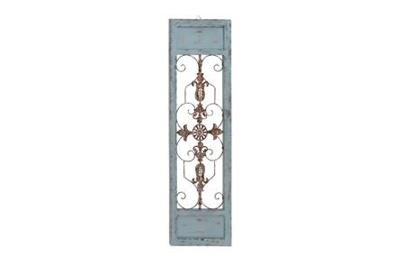 Turquoise 47 Inch Wood Metal Wall Panel - Main