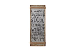 Brown 38 Inch Metal Rope Wall Sign