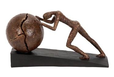 Brown 8 Inch Polystone Sportman Sculpture