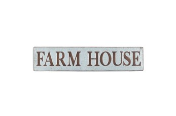"Brown 10 Inch Metal ""Farmhouse"" Wall Sign"
