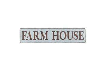 "Brown 10 Inch Metal ""Farmhouse"" Wall Sign"