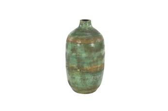 Green 16 Inch Terracotta Vase