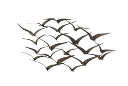 Black 26 Inch Metal Bird Wall Decor