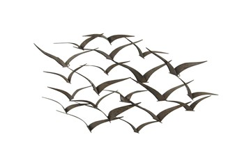 Black 26 Inch Metal Bird Wall Decor