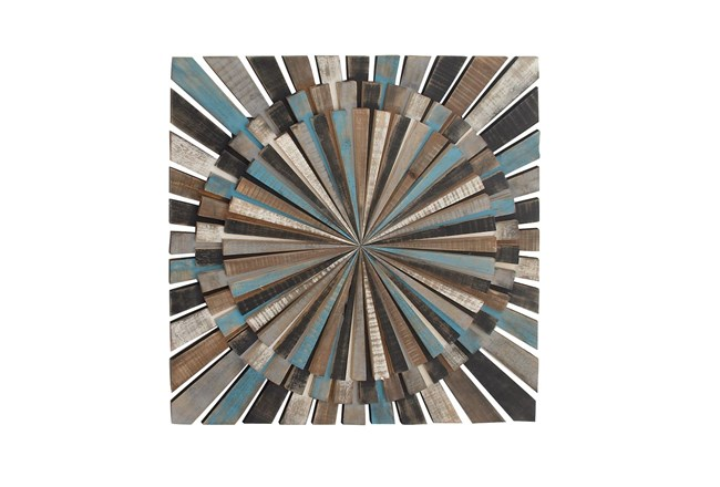 Brown 36 Inch Wood Wall Decor  - 360