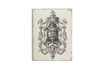 White 32 Inch Wood Cherub Angel And Chandelier Wall Decor