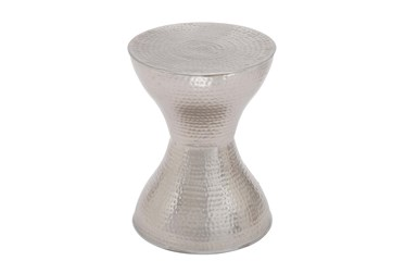Silver 18 Inch Metal Accent Table