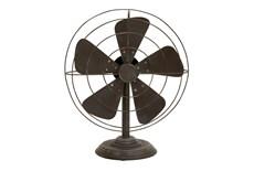 Black 18 Inch Decorative Metal Fan