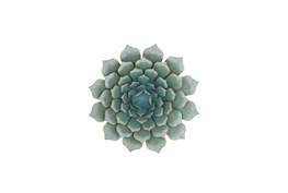 Turquoise 23 Inch Metal Flower Wall