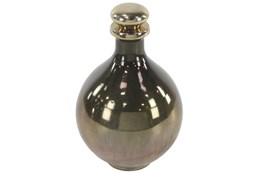 Gold 13 Inch Glass Bottle