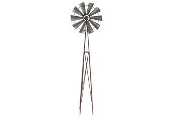 Black 81 Inch Metal Propeller Sculpture