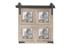 Brown 18 Inch Wood Metal Wall Photo Frame