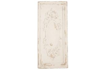 White 39 Inch Fiberglass Wall Plaque