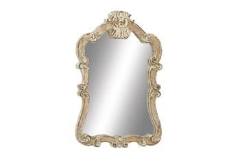 Cream 39 Inch Wood Wall Mirror