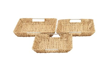 Tan 3 Inch Seagrass Basket Set Of 3