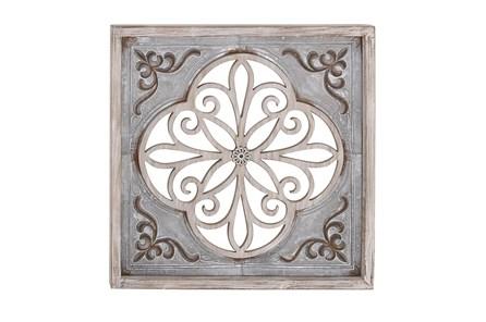Grey 36 Inch Wood Metal Wall Panel - Main