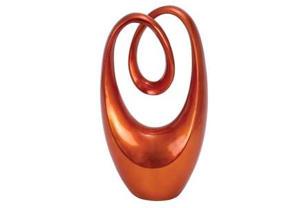 Red 20 Inch Polystone Sculpture - Main