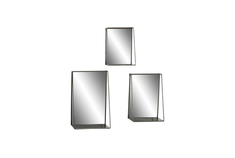 Gold 23.5 Inch Metal Wall Mirror Set Of 3
